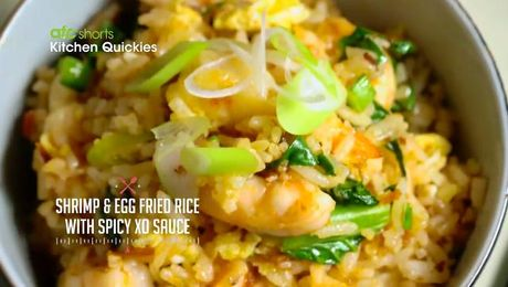 Mapo tofu with korean twist kitchen quickies asian food channel shrimp and egg fried rice with xo sauce kitchen quickies asian food channel forumfinder Images
