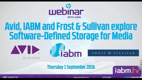 Avid, IABM and Frost & Sullivan explore Software-Defined Storage for Media