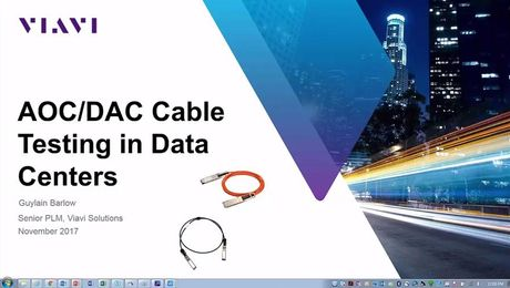 VIAVI Solutions Webinar: Data Center Cable Infrastructure