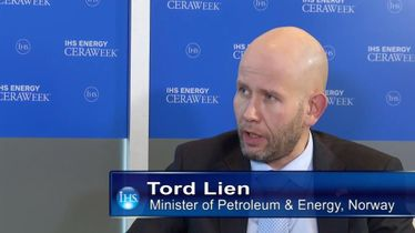 HE Tord Lien, Minister of Petroleum & Energy, Norway