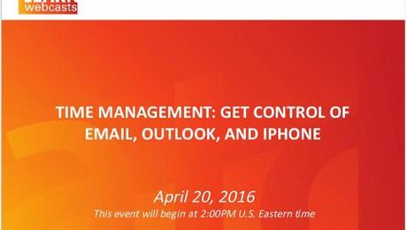 Time Management Get Control of Email, Outlook, and iPhone