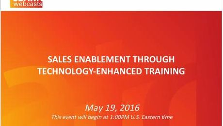 Sales Enablement Through Technology-Enhanced Training