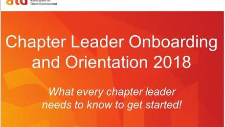Chapter Leader Orientation & Onboarding 2018