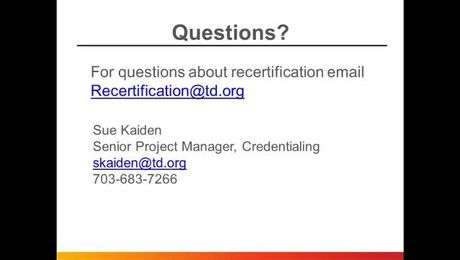 How to Recertify Your CPLP or APTD Credential
