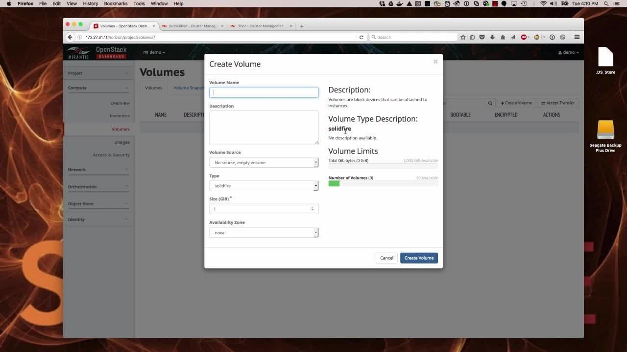 OpenStack Demo: Multi-Tenancy and SolidFire