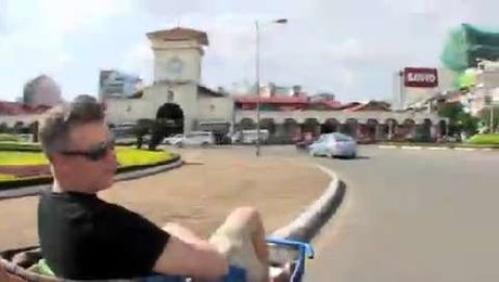 A trishaw ride through Ho Chi Minh City
