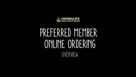Preferred Member Online Ordering Overview
