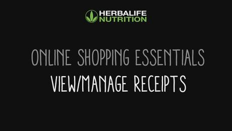 Online Shopping Essentials - View/Manage Receipts
