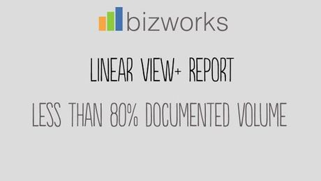 Linear View PLUS: Less than 80% Documented Volume