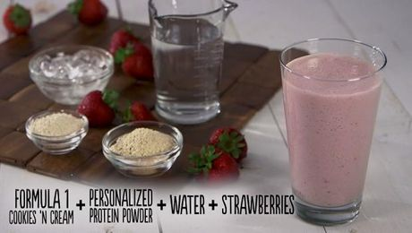 Cookies N Cream + Protein + Strawberries