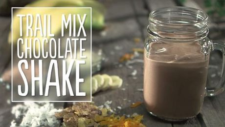 Trail Mix Chocolate Shake
