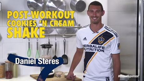 Cookies 'n Cream shake with Daniel Steres