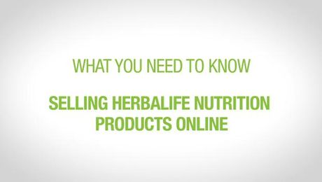 Selling Herbalife Nutrition Products Online
