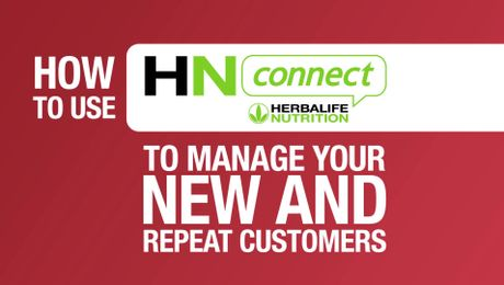 Managing new and repeat customers with HNconnect