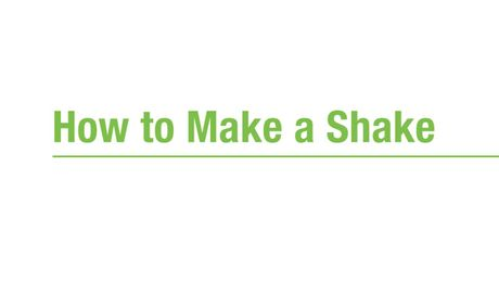 How to Make an Herbalife Nutrition Formula 1 Shake