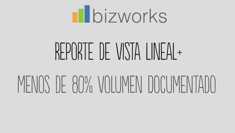 Vista Lineal PLUS: Menos del 80% de Volumen Documentado