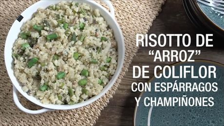 Risotto de arroz de colifor