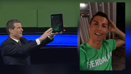 Cristiano Ronaldo Facetimes with Herbalife