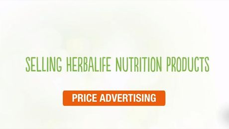 Selling Herbalife Nutrition Products -  Price Advertising