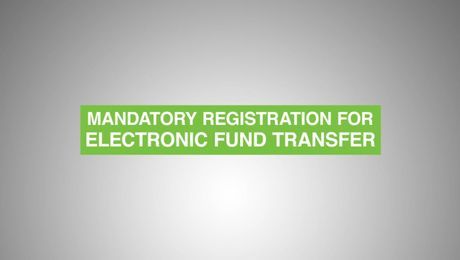 Electronic Fund Transfer Registration process