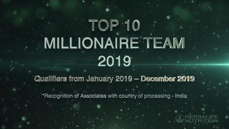 TOP Millionaire Team for the year 2019