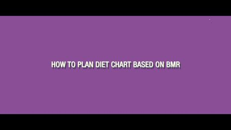 How to plan your diet based on BMR?