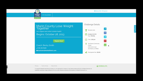 Weight Loss Challenge: New Website Overview