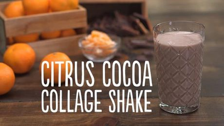 Citrus Cocoa Collage Shake