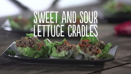 Sweet and Sour Lettuce Cradles