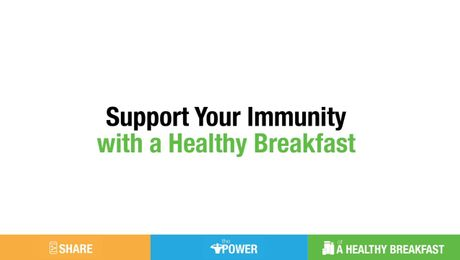 Have a Healthy Breakfast for Immunity Support