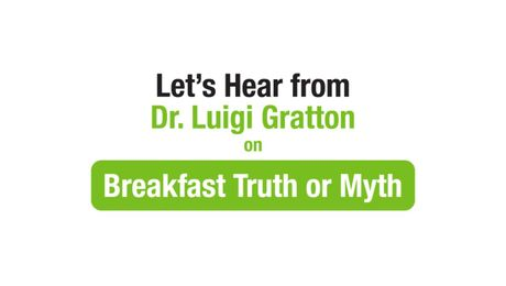 Dr. Luigi Gratton on Breakfast Truths and Myths