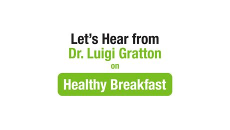 Dr. Luigi Gratton on Healthy Breakfast