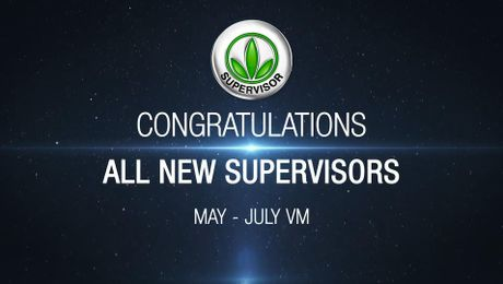 Supervisors Recognition May - July VM
