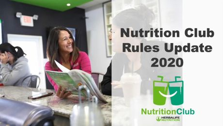 Nutrition Club Rule Update Masterclass - Aug 2020