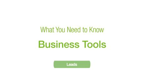 Business Tools: Leads