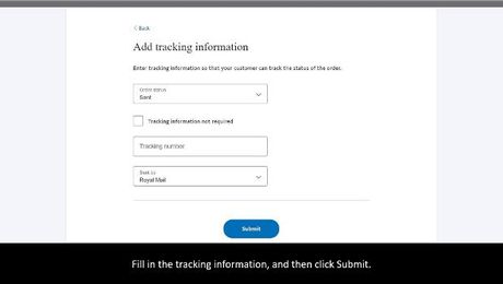 Add tracking information to PayPal payments