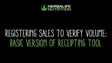 Registering Sales to Verify Volume