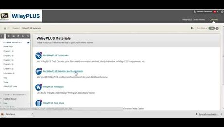 How to add WileyPLUS assignments to my course integrated with Blackboard (Instructor)