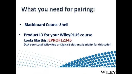 How do I pair WileyPLUS with Blackboard? (Instructor)