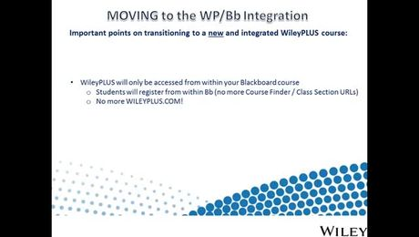 How to move from a standalone WileyPLUS course to an integrated WileyPLUS and Blackboard  course