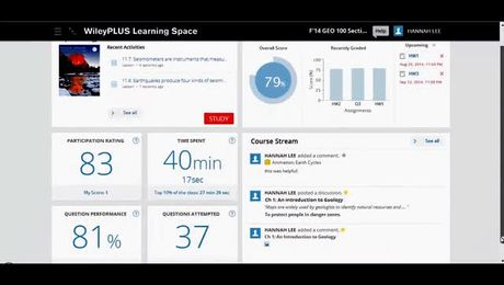 How to use the WileyPLUS Learning Space Dashboard (Student)