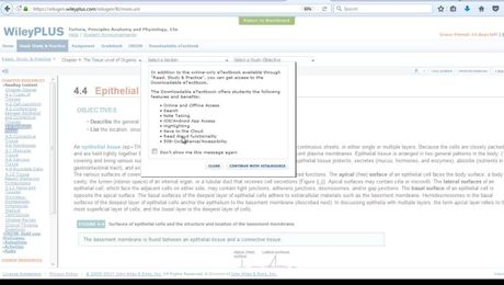 How to access and use the eText with WileyPLUS integrated with Blackboard