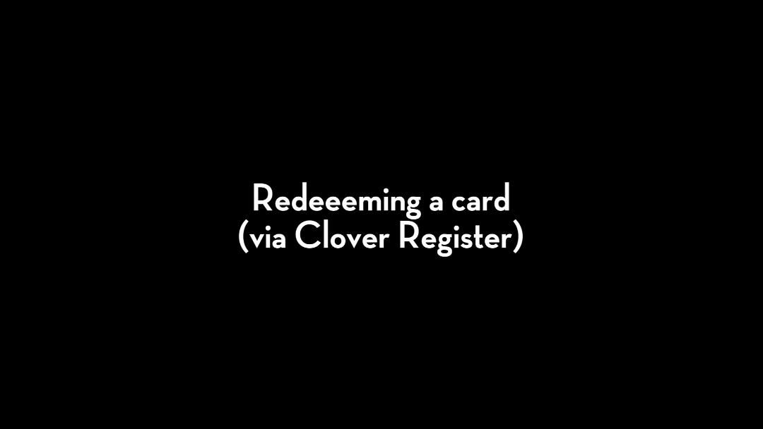 Clover Clips: Gift Cards - Redeeming A Card