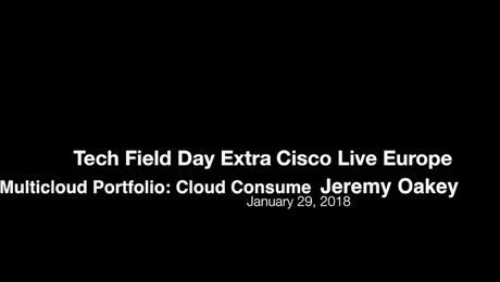 Tech Field Day: Cisco Multicloud Portfolio - Cloud Consume