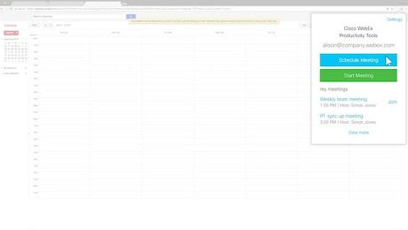 WebEx Scheduler for Google Calendar
