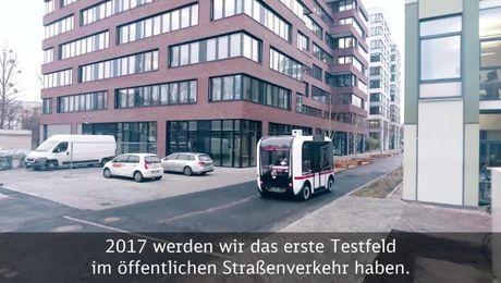 """""""Elektrisch und führerlos"""" - Das DB-Shuttle"""