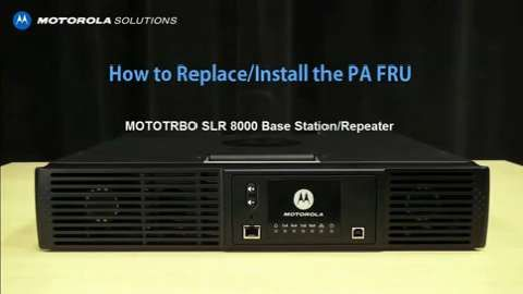 MOTOTRBO SLR 5000 Series Repeater - Assembly - Training