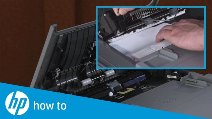 Fixing a Paper Jam on the HP OfficeJet Pro 7720 Printer