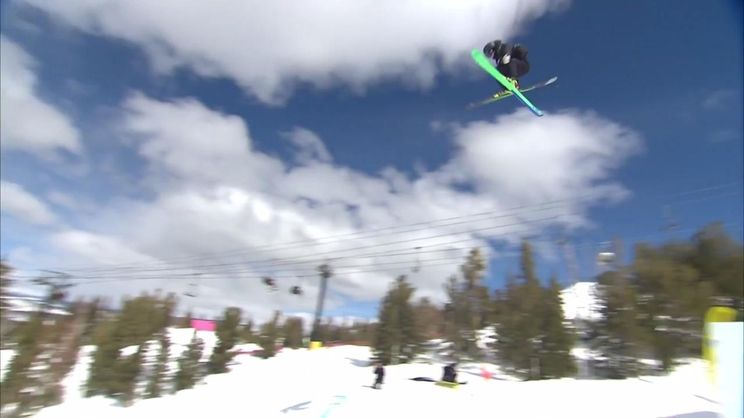 Mac Forehand's First World Cup Win   Freeski Slopestyle   2019 Toyota U S   Grand Prix at Mammoth Mountain