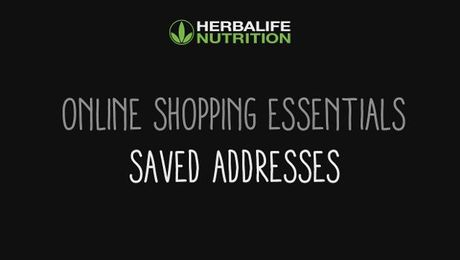 Online Shopping Essentials - Saved Addresses